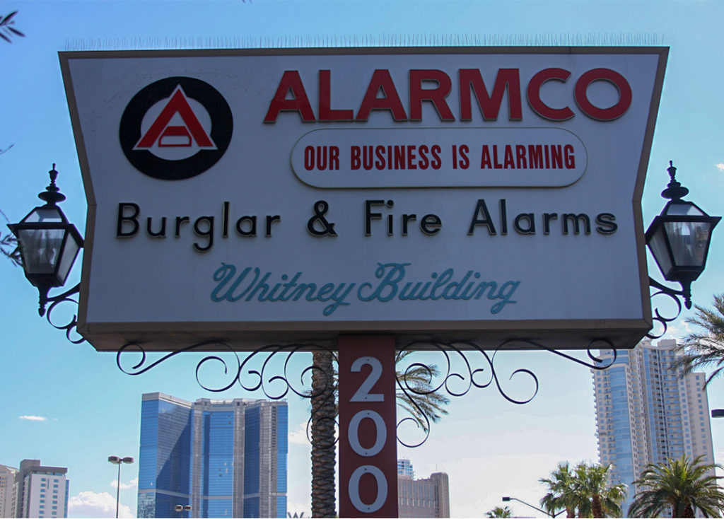 alarmco outdoor sign